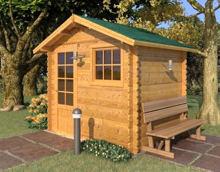 case legno da giardino